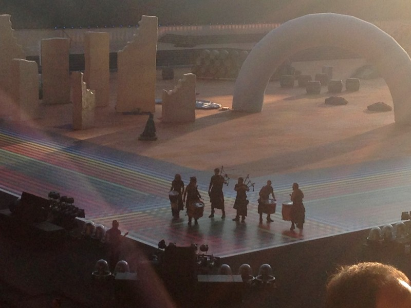 BAND @ CELTIC PARK 2014 CWG CEREMONY.